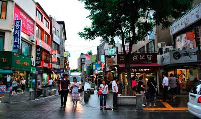 Южная Корея. Сеул. Улица Инсадон