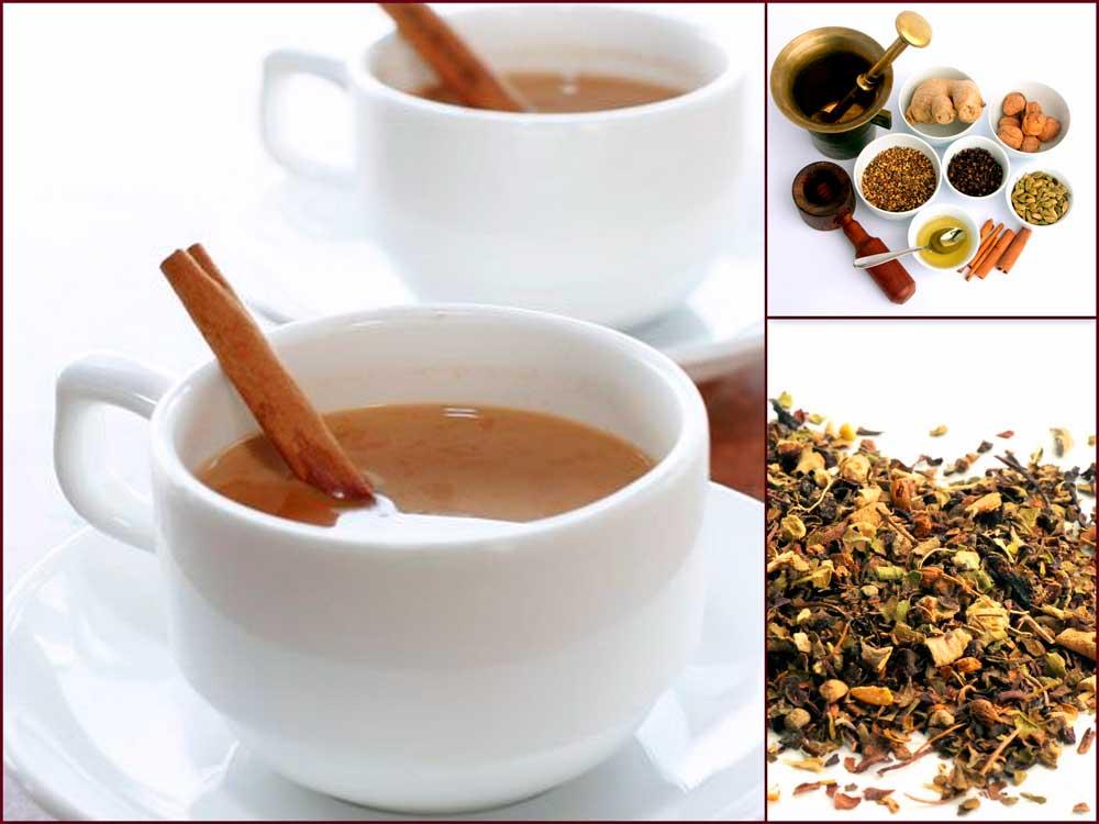 В хорошо прогретые чашки наливаем определённое количество молока,а потом налить чайный настой