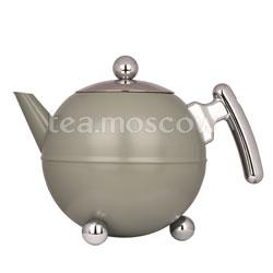 Duet bella ronde 7304 GC чайник с дв стенк 1,2 салатовый