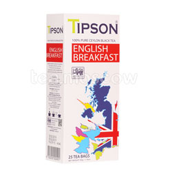 Чай Tipson English Breakfast (25 пакетиков по 2 гр)