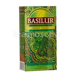 Чай Basilur ВОСТОЧНАЯ Зеленая долина в пакетиках 25шт х 2гр