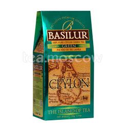 Чай Basilur Чайный Остров Цейлон Зеленый 100 гр