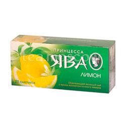 Принцесса Ява Лимон в пакетиках зеленый 25 пак.
