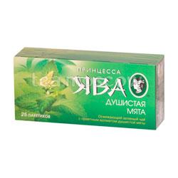 Чай Принцесса Ява Душистая Мята зеленый чай в пакетиках 25 шт