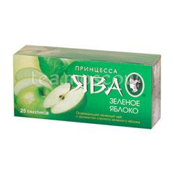 Чай Принцесса Ява Зеленое Яблоко зеленый  в пакетиках зеленый 25 шт * 1.5 г