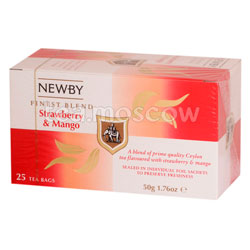 Чай пакетированный Newby Клубника и манго 25 шт