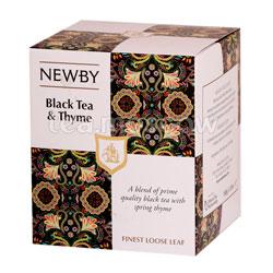 Чай листовой Newby Черный чай с чабрецом 100 гр