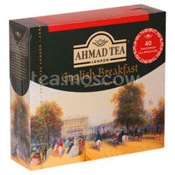 Чай Ahmad Пакет Английский завтрак. Черный, 2гр*40 шт