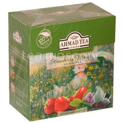 Чай Ahmad Tea Strawberry Mousse Клубничный мусс в пирамидках 20 шт.