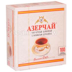 Чай Азерчай Бергамот черный 100 пак.