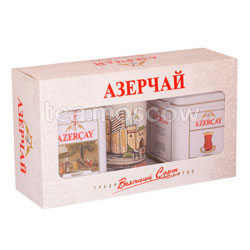 Чай Азерчай Подарочный набор черный