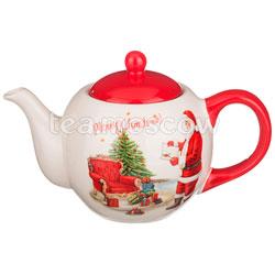 Заварочный Чайник Agness С новым годом 900 мл красный (358-856)