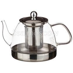 Чайник стеклянный с фильтром индукционный 884-014 800 мл