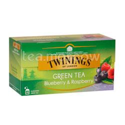 Чай Twinings Зеленый Черника и Малина (25 пакетиков)