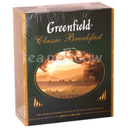 Чай Greenfield Classic Breakfast 100 Пакетиков