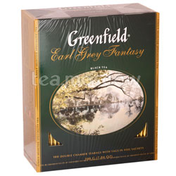 Чай Greenfield Earl Grey Fantasy 100 Пакетиков