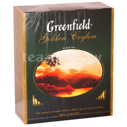 Чай Greenfield Golden Ceylon 100 Пакетиков
