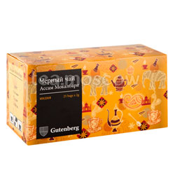 Чай Gutenberg Ассам Мокалбари в пакетиках 25 шт х 2 г