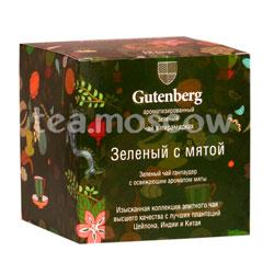 Gutenberg Зеленый с мятой в пирамидках 12 шт
