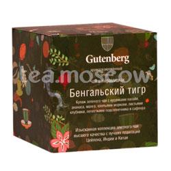 Чай Gutenberg Бенгальский Тигр в пирамидках 12 шт