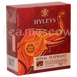 Чай Hyleys Королевский слон черный в пакетиках 100 шт х 2г