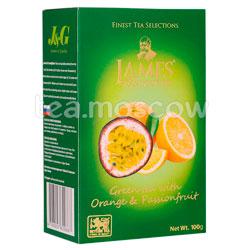Чай James Grandfather зеленый с апельсином и маракуйей 100 гр