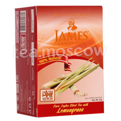 Чай James Grandfather Lemongrass черный в пакетиках