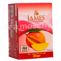 Чай James Grandfather Mango черный в пакетиках