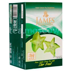 Чай James Grandfather зеленый с карамболой в пакетиках