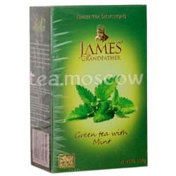 Чай James Grandfather Мята. Зеленый, 100 гр