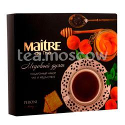 Подарочный набор Maitre Медовый дуэт чай черный Кения 25 г и мед-суфле 20 г х 2шт