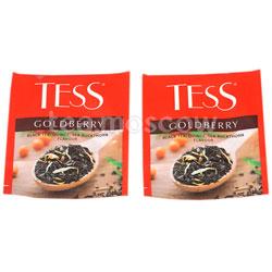 Чай Tess черный Goldberry (Айва и аромат облепихи) 100 пак. п/э ХРК