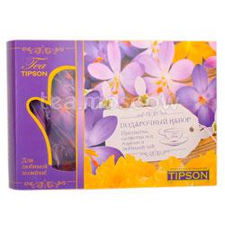 Tipson Подарочный чайный набор Виолетта с прихваткой и салфеткой под горячее.