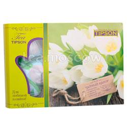 Tipson Подарочный чайный набор Элизабетс прихваткой и салфеткой под горячее.