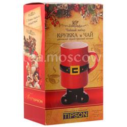 Tipson подарочный чайный набор Чай и кружка керамическая Дед Мороз Люкс 3.1