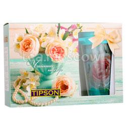 Tipson Подарочный чайный набор Розы с термокружкой