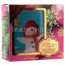 Tipson подарочный чайный набор N 1.4 3D открытка-магнит, салфетка и чай