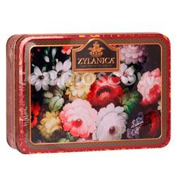 Чай Zylanica шкатулка Red Super Pekoe черный с лепестками подсолнечника и сафлором 100 г ж.б.