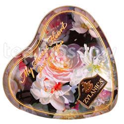 Чай Zylanica Floral Сердце Super Pekoe черный ароматизированный 100 г ж.б.