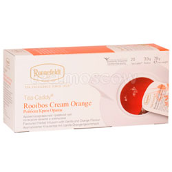 Чай Ronnefeldt Rooibus Cream Orange/Ройбуш Крем Оранж в сашете на чайник (Tea Caddy)