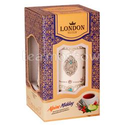 Lоndon Tea Club Фруктово-травяной чай Альпийский полдень 70 г в фарфоровой чайнице