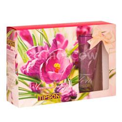 Tipson Подарочный чайный набор Тюльпаны с термокружкой