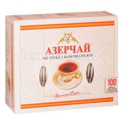 Чай Азерчай Бергамот черный 100 пак. в конверте