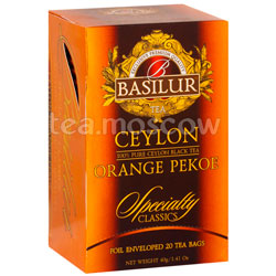 Чай Basilur Избранная классика Orange Pekoe 20 пак