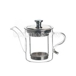 Чайник стеклянный с металлической крышкой 300 мл D-300