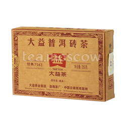 Пуэр в плитках Tae Tea 250 гр шу 7562