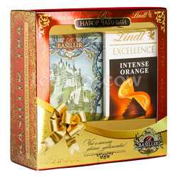 Basilur Чайный набор Lindt шоколад 100 гр