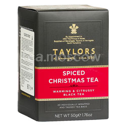 Чай Taylors of Harrogate Spiced Christmas / Рождественский с пряностями 20 шт
