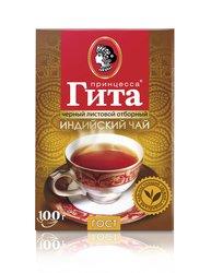 Чай Принцесса Гита классический ГОСТ Листовой Черный 100 гр