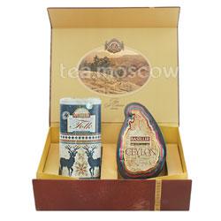 Набор Чайный подарок коричневый (Остров Особый+Фолк Индиго)